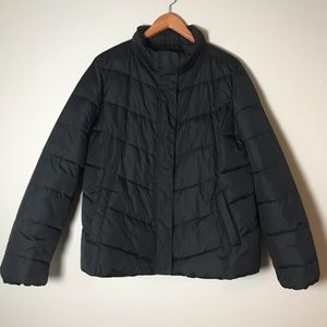 Gap black puffer coat